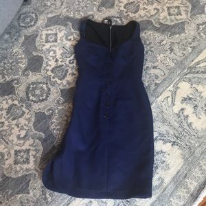Derek lam blue/purple dress xs 0